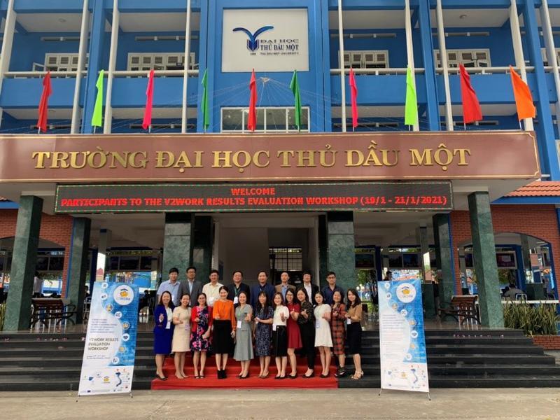 Trường Đại học Công nghiệp Vinh tham dự hội thảo đánh giá kết quả của Dự án V2Work tại Bình Dương