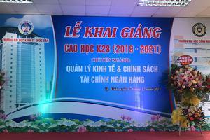 Lễ khai giảng lớp Cao học K28 – Trường ĐH Kinh tế quốc dân...
